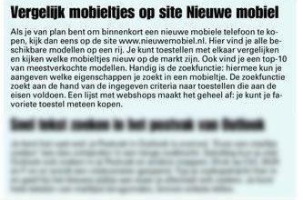 NieuweMobiel.NL getipt door dagblad Spits