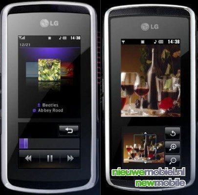 LG KF600 InteractPad telefoon nu al verkrijgbaar