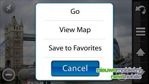 Garmin geeft nieuwe schermafbeeldingen Nuvifone vrij