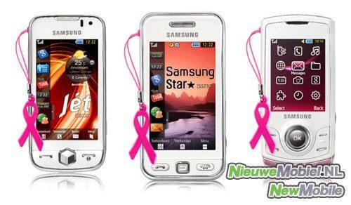 Samsung Jet, Star en S5200 in speciale Pink Ribbon editie