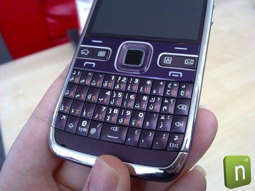 Nokia E72 purple