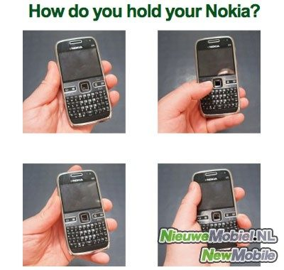 How do you hold your Nokia?