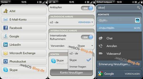 webOS skype