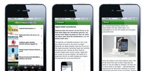 NieuweMobiel iPhone-app