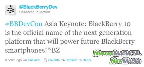 Blackberry tweet