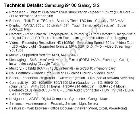Samsung i9100 Galaxy S 2