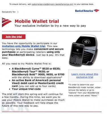 BlackBerry RIM Mobile Wallet NFC