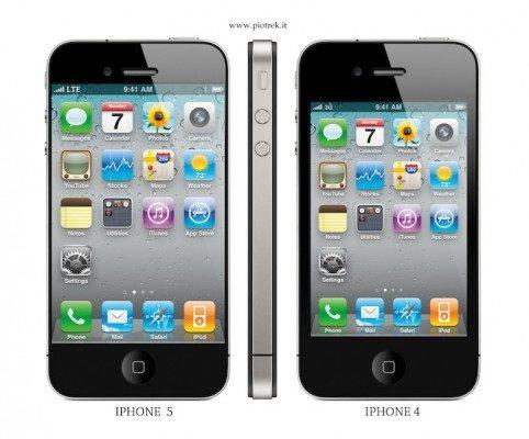 De iPhone 5 met 4 inch scherm?