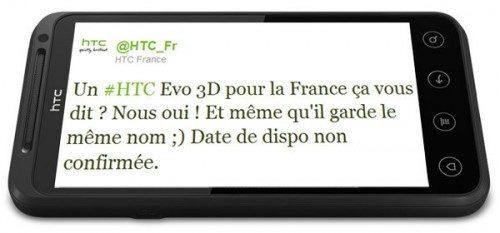 De Franse Tweet over HTC EVO 3D