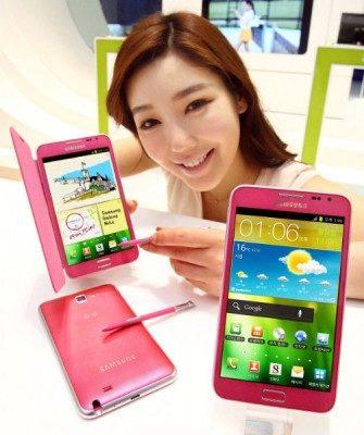Samsung Galaxy Note Pink