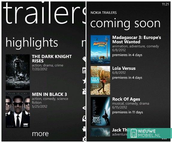 Nokia Trailers for lumia