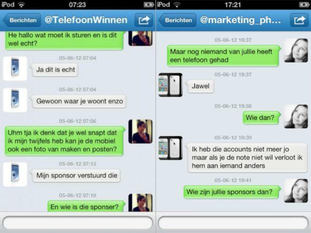 Screenshot Twitter scam DM