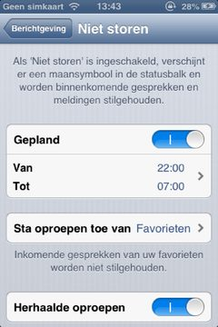 iOS 6 do not disturb 2