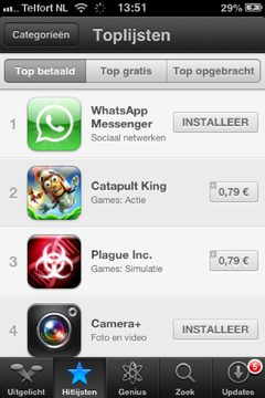 iOS6 top lists