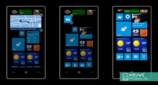 Windows Phone 8 scalable tiles