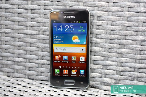 Samsung Galaxy S Advance on chair