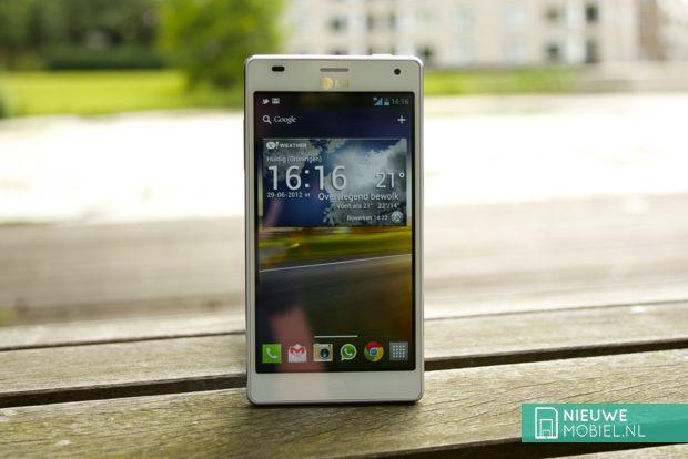 LG Optimus 4X HD near lake