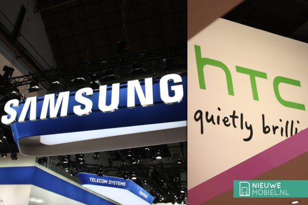 Samsung and HTC booth