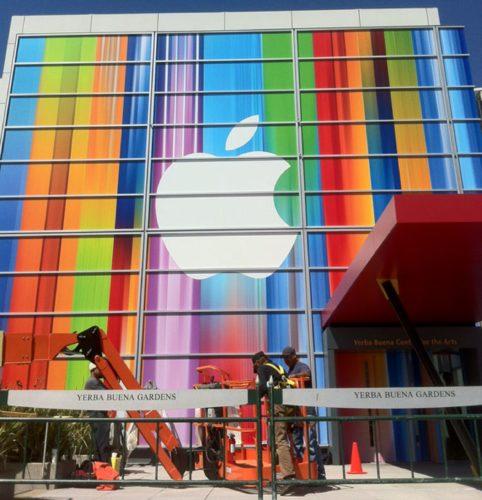 Apple banner at Yerba Buena Center