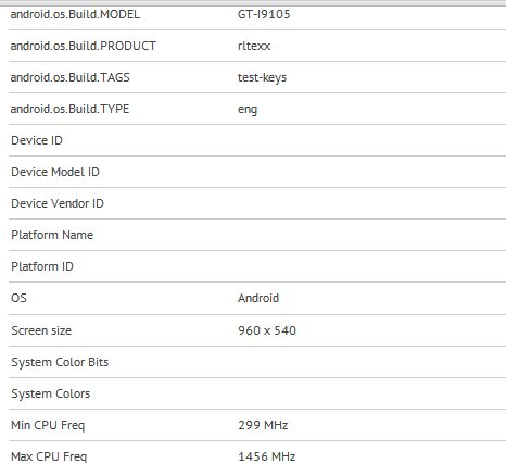 Samsung Galaxy S II Plus i9105 benchmark