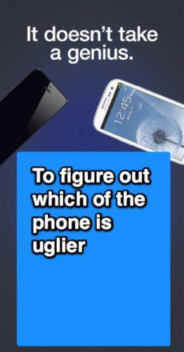 Samsung ad Uglier phone