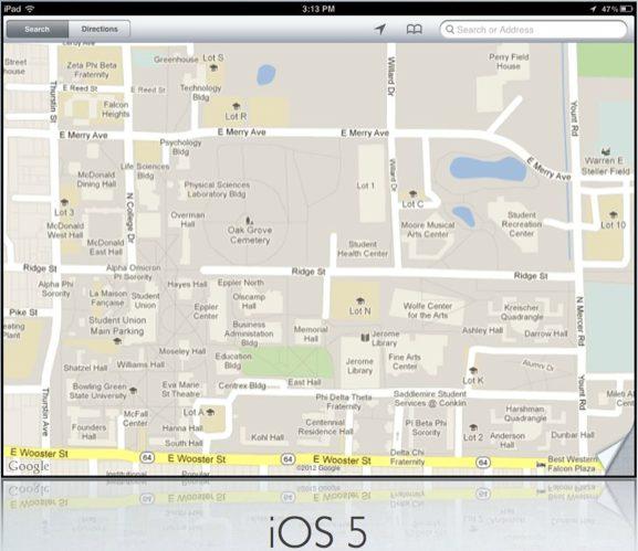 Google Maps iOS 5