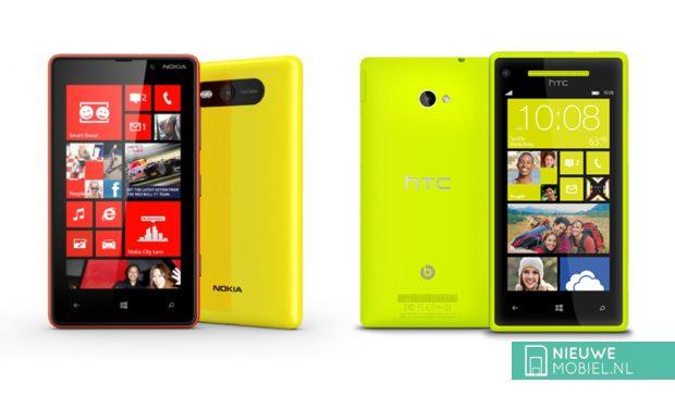 Nokia Lumia 820 vs HTC Windows Phone 8X