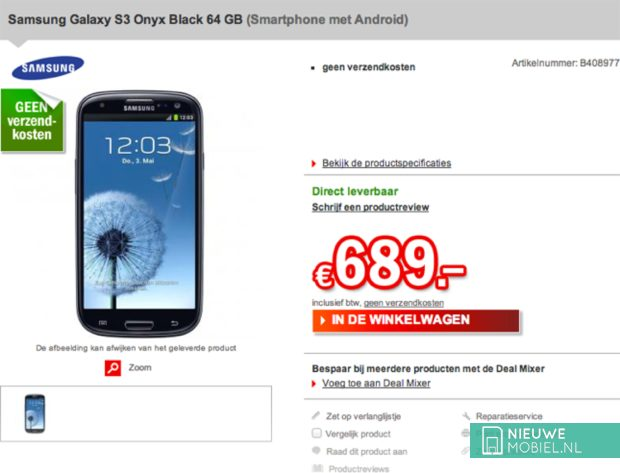 Samsung Galaxy S III 64 GB Onyx Black