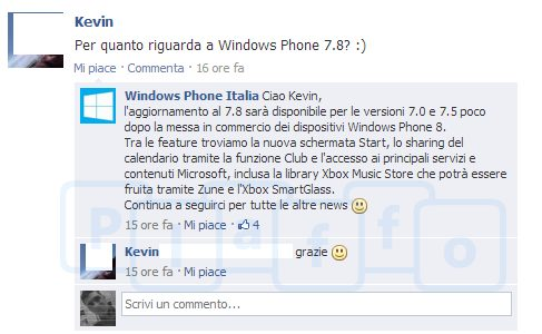Windows Phone 7.8 functions