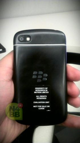 BlackBerry X10 N-series rear