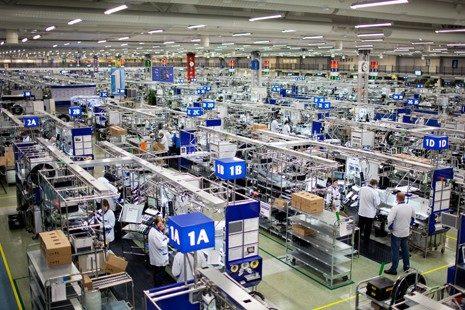 De fabriek in het Finse Salo