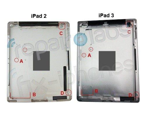 Behuizing iPad 3 gelekt: kleinere printplaat