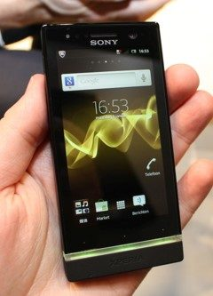 Sony xperia u front yellow