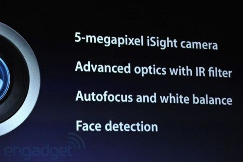 New Apple iPad with 5 megapixel camera