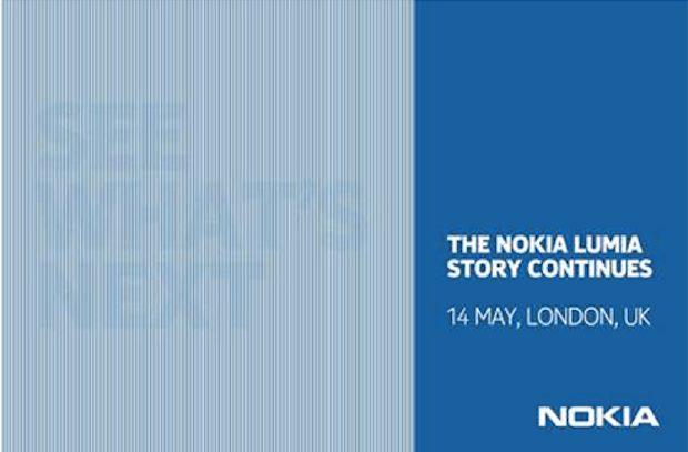 Nokia nodigt 14 mei pers uit voor nieuwe Lumia-telefoon