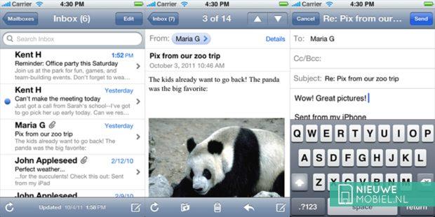iOS mail client
