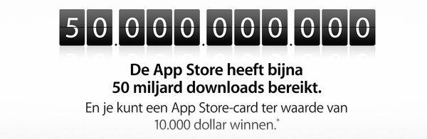 50th Billion download App Store
