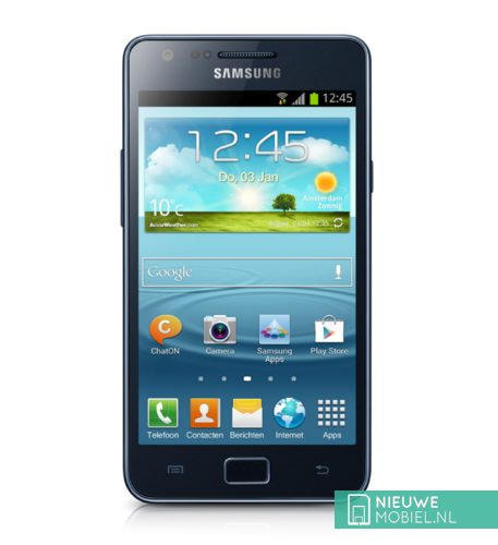 Samsung Galaxy S II Plus black front