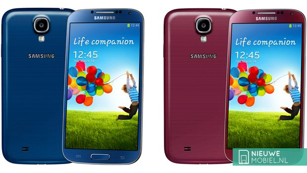 Samsung Galaxy S4 Blue Arctic and Red Aurora