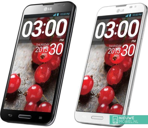 LG Optimus G Pro Black and White