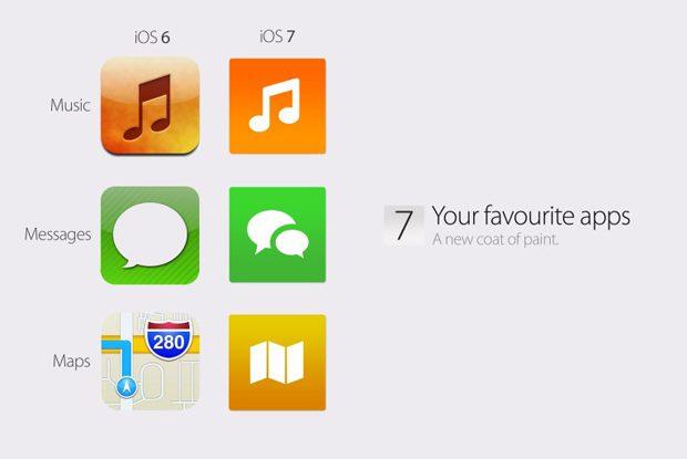 Waarom icoontjes in iOS 7 met flat UI design niet vierkant zullen zijn