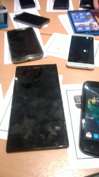 Nokia Lumia 1030, Sony Xperia L4 and HTC One mini M4