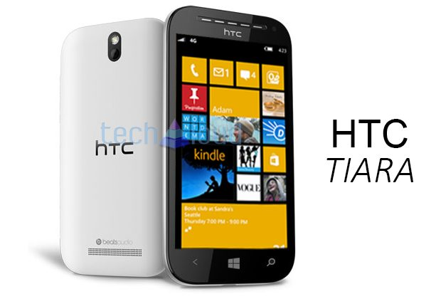 Persrender HTC Tiara onder Windows Phone GDR2 binnen