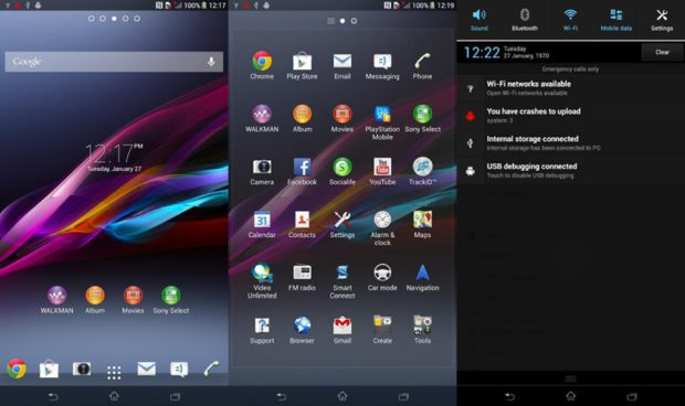 Screenshots Sony Xperia Z Ultra bevestigen groot scherm
