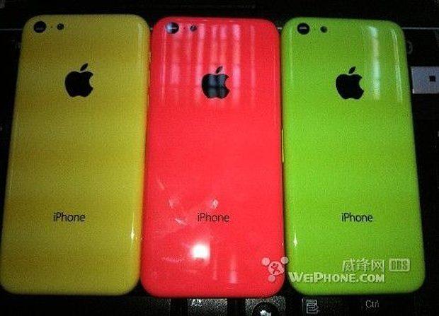 Budget iPhone lekt uit in verschillende kleuren