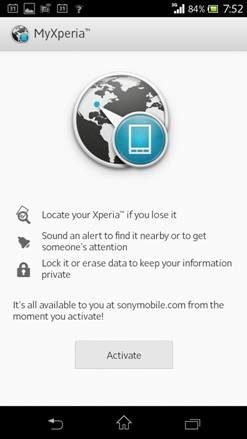 My Xperia app