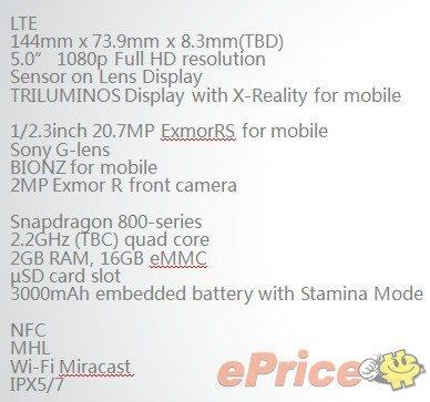 Sony Xperia i1 Honami specs