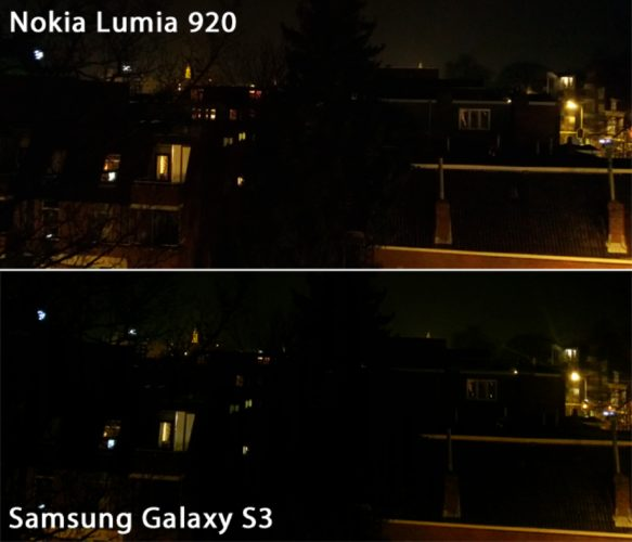 Night test Lumia 920 and Galaxy S3