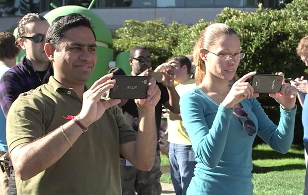 Google lekt Nexus 5 in Android KitKat-video