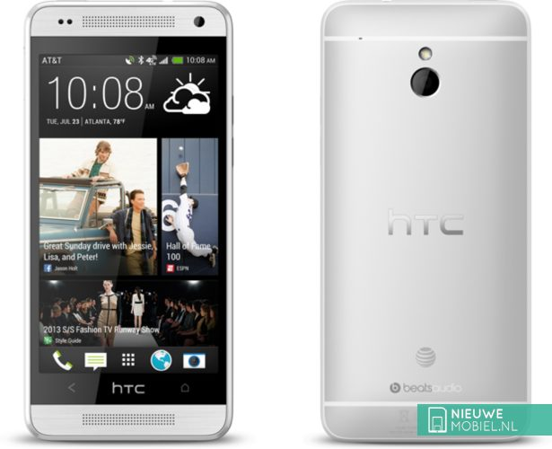 HTC One mini front and back